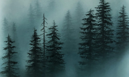 MOODY MISTY FOREST